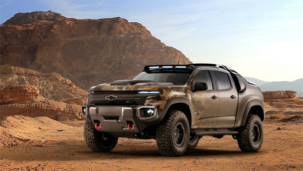 United States Army Materiel hydrogen fuel cell Chevrolet pickup